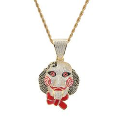 Halloween Mask Pendant Necklace