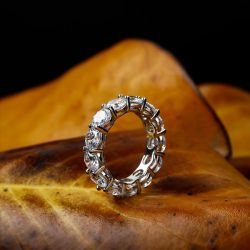 Eternity Sterling Silver Women's Eternity Band