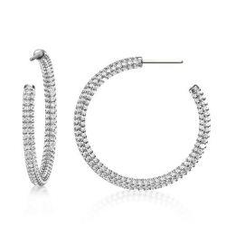 Classic Round Sterling Silver Hoop Earrings