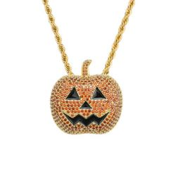 Halloween Pumpkin Pendant Necklace