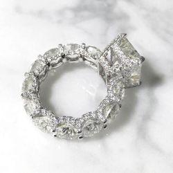 Eternity Radiant Cut Engagement Ring