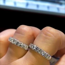 Stackable Double Wedding Band