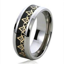 White Titanium Steel Men's Ring