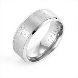 Antler Tungsten Steel Men's Ring