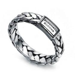 Buddha Tungsten Steel Men's Ring