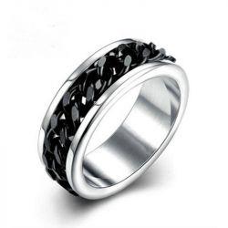 Classic Chain Titanium Steel Men's Ring