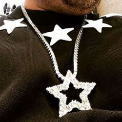 Round Cut Five-pointed Star Pendant Necklace
