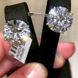 Classic Round Cut Silver Stud Earrings