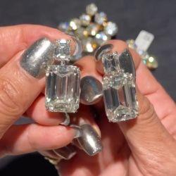 Emerald Cut Drop Earrings