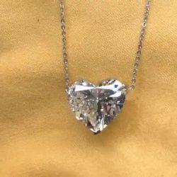 Simple Design Heart Cut Pendant Necklace
