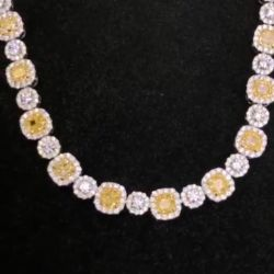 Halo Round Yellow Necklace