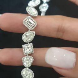 Halo Irregular Marquise & Pear & Heart Bracelet