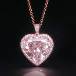 Rose Gold Heart Cut Pendent Necklace