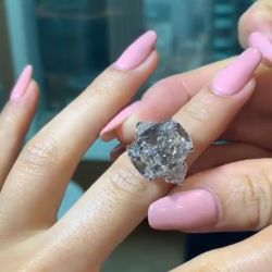 Three Stone Radiant & Heart Cut Engagement Ring