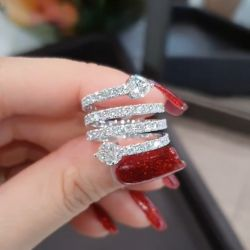 Special Design Hear Cut Engagement Ring
