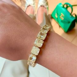 Cushion Cut Tennis Bracelet
