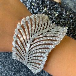 Leaf Design Round & Marquise & Baguette Bracelet