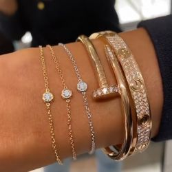 Nail Design Round Cut Stackable Bracelets