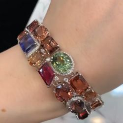 Irregular Design Colorful Double Row Bracelet