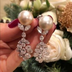 Marquise & Round & Oval Pear Drop Earrings