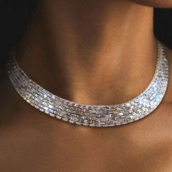 Luxurious Baguette Tennis Necklace