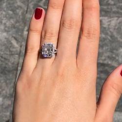 Halo Radiant Cut Engagement Ring