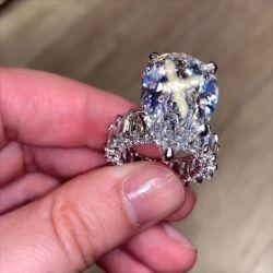 Unique Cocktail Pear Cut Engagement Ring