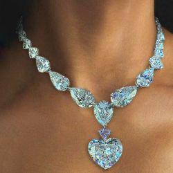 Heart & Pear Cut Necklace