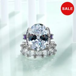 Stunning 15CT Oval Shape  Ring Set