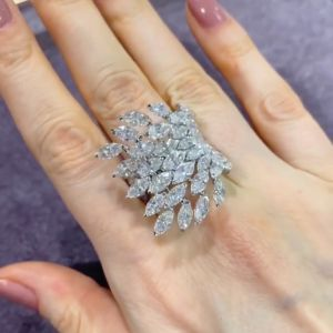 Angel Design Marquise Cut Engagement Ring