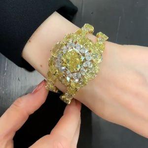 Yellow Flower Design Cushion Bracelet