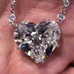 Heart Cut Pendant Necklace