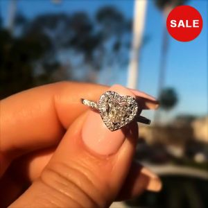 Halo Heart Cut Engagement Ring